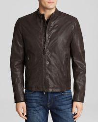 John Varvatos Usa Leather Moto Jacket - Lyst