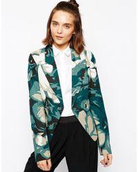 Gsus Sindustries Floral Printed Blazer - Multicolour
