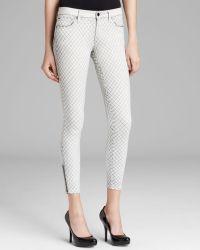 D-ID Jeans - Derby Skinny In Splash Black - White