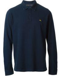 Etro Long Sleeve Polo Shirt - Lyst