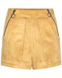 Chloé Suede Shorts - Lyst