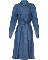 Elle Sasson Long Sleeve Mika Chambray Trench - Lyst