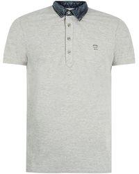 Diesel Denim Collar Polo Shirt - Lyst