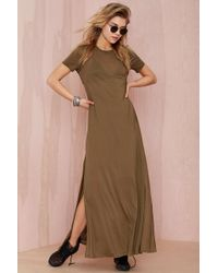Nasty Gal After Party Vintage Backed Out Midi Dress - Lyst