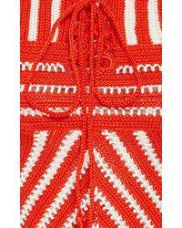 Orley - Striped Crocheted Dress - Lyst