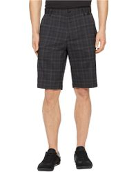 Calvin Klein Fine Madras Plaid Stretch Shorts - Lyst