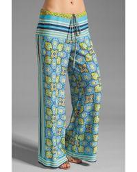 Clover Canyon Art Deco Tiles Wide Leg Pants - Blue