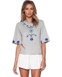 Hemant & Nandita - Crystal Short Sleeve Sweatshirt - Lyst