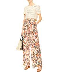Saloni Fifi Printed Silk Pants multicolor - Lyst