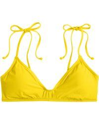 J.Crew Shoulder-Tie French Bikini Top - Lyst