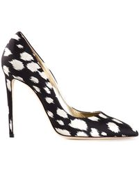 Fausto Puglisi Black Printed Pumps - Lyst