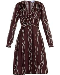 Altuzarra Esther Chain-Print Silk Dress - Lyst