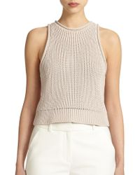 3.1 Phillip Lim Ribbed Sleeveless Pullover - Lyst