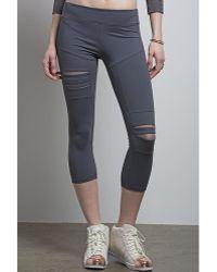 Nesh NYC - Crop Torn Legging - Lyst