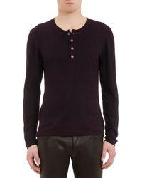 John Varvatos Reverse-Print Henley Sweater - Lyst