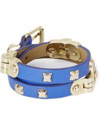 BCBGMAXAZRIA Icon-Studded Wrap Bracelet - Lyst