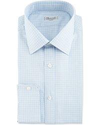 Charvet Plaid Barrel-cuff Dress Shirt - Lyst