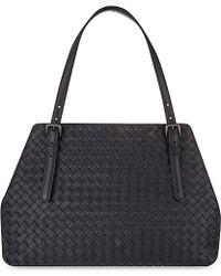 Bottega Veneta Intrecciato Leather Tote - For Women - Lyst