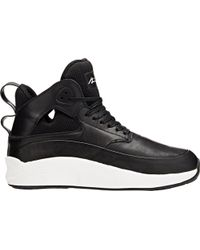 Article No. Leather & Mesh Mid-top Sneakers - Lyst