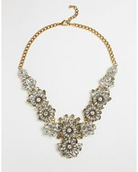 Little Mistress - Flower Cluster Statement Necklace - Lyst
