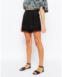Sugarhill - Sienna Shorts With Lace Trim - Lyst