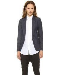 Acne Studios Single Button Suiting Blazer Indigo - Lyst