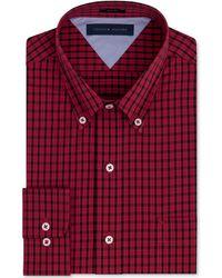 Tommy Hilfiger Slim-fit Check Dress Shirt - Lyst