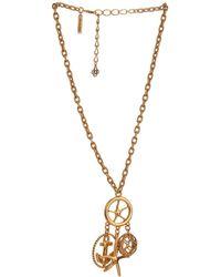 Oscar de la Renta Nautical Gold-Plated Pendant Necklace - Lyst