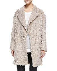 Rebecca Minkoff Sam Faux-fur Oversize Coat - Lyst