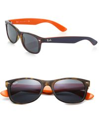 Ray-Ban 55Mm Wayfarer Sunglasses orange - Lyst