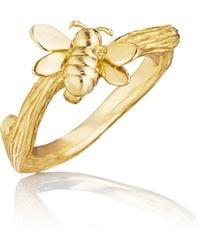 Mimi So - Wonderland 18k Gold Small Bee Ring - Lyst