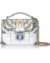 Dolce & Gabbana Rosalita Mini Printed Patent-Leather Shoulder Bag - Lyst