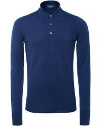 John Smedley Dorset Merino Long Sleeve Polo Shirt - Lyst