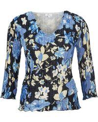 Cc | Floral Crinkle Blouse | Lyst