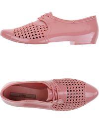 Melissa Lace-Up Shoes beige - Lyst