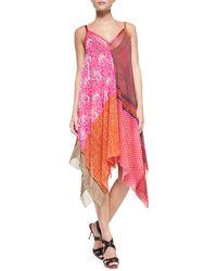 Jean Paul Gaultier - Patchwork-Print Asymmetric Coverup Dress - Lyst
