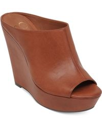 Jessica Simpson Lovell Platform Wedge Sandals - Lyst