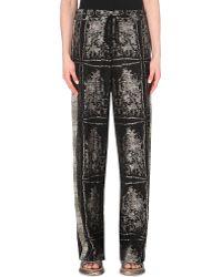 Dries Van Noten Wide-Leg Patterned Trousers - For Women - Lyst