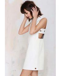 Nasty Gal American Retro Stephanie Leather Dress - Lyst