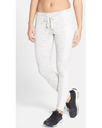 Betsey Johnson Performance Colorblock Space Dye Skinny Sweatpants - Lyst