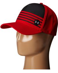 Under Armour Ua Striped Out Stretch Fit Cap - Lyst
