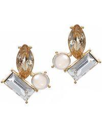 Anne Klein - Cluster Stud Earrings - Lyst