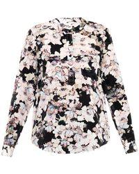 Rebecca Taylor Frost Flower-print Silk Shirt - Lyst