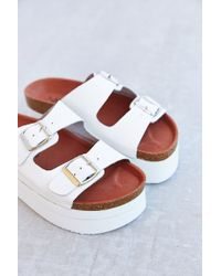 Sixtyseven White Sandal - Lyst