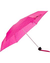 Lulu Guinness Micro Quilted Lips Umbrella - Pink