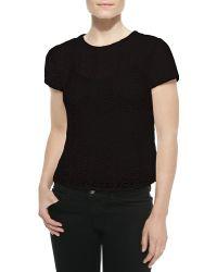 Diane von Furstenberg Melissa Short-sleeve Lace Top - Lyst