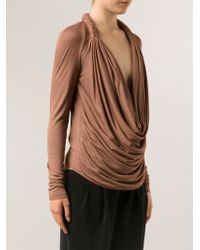 Givenchy Draped Blouse - Lyst