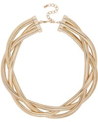 River Island Gold Tone Twisted Chain Statement Necklace - Lyst