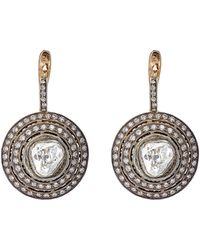 Munnu - Circular Drop Earrings - Lyst