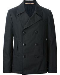 Dondup Double Breasted Coat - Lyst